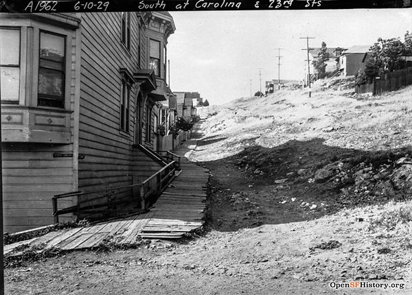 1929 view North up Carolina St from 23rd St, in San Francisco