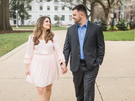 Sarah and Sean | Downtown Raleigh Engagement Session