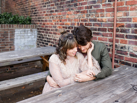 Romantic Downtown Asheville Couples Session   Betsabe & Joey