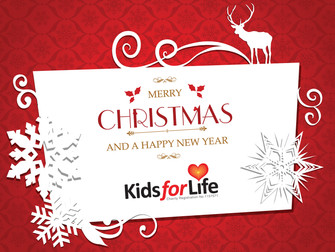 It's Christmas! Free Kids for Life Christmas Card