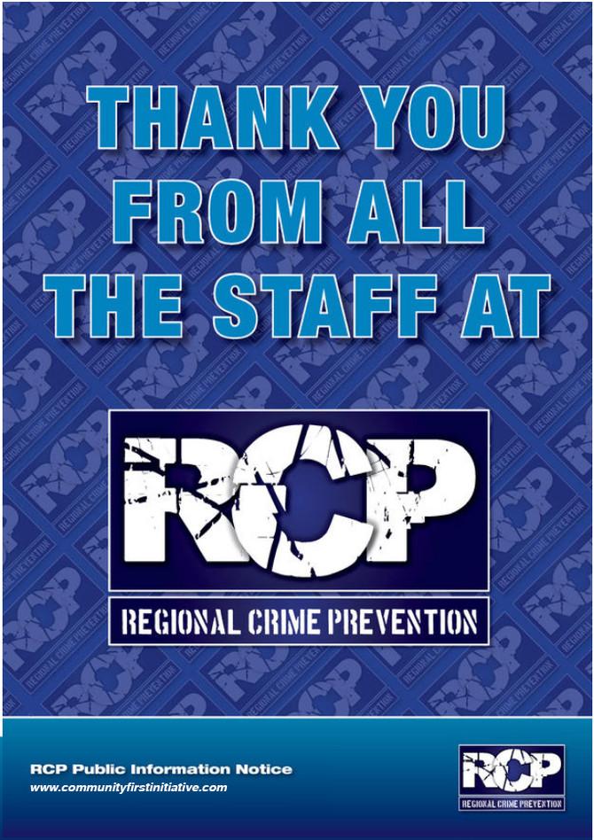 RCP Magazine - Thank You!