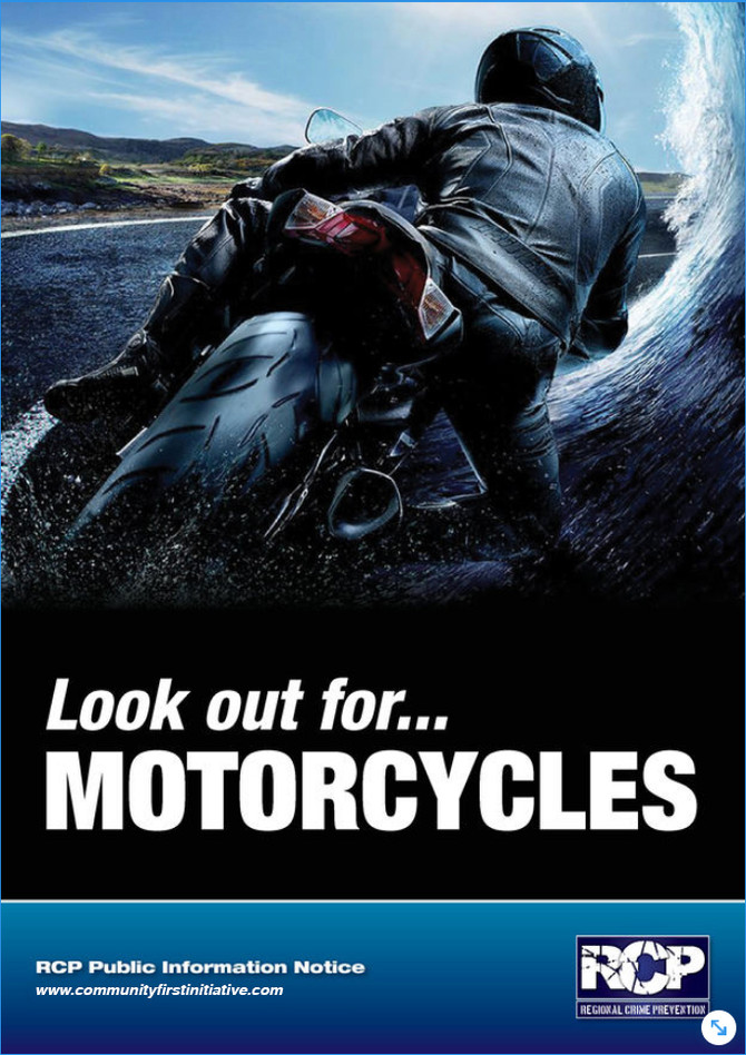 RCP Magazine -Look Out For Motorcycles