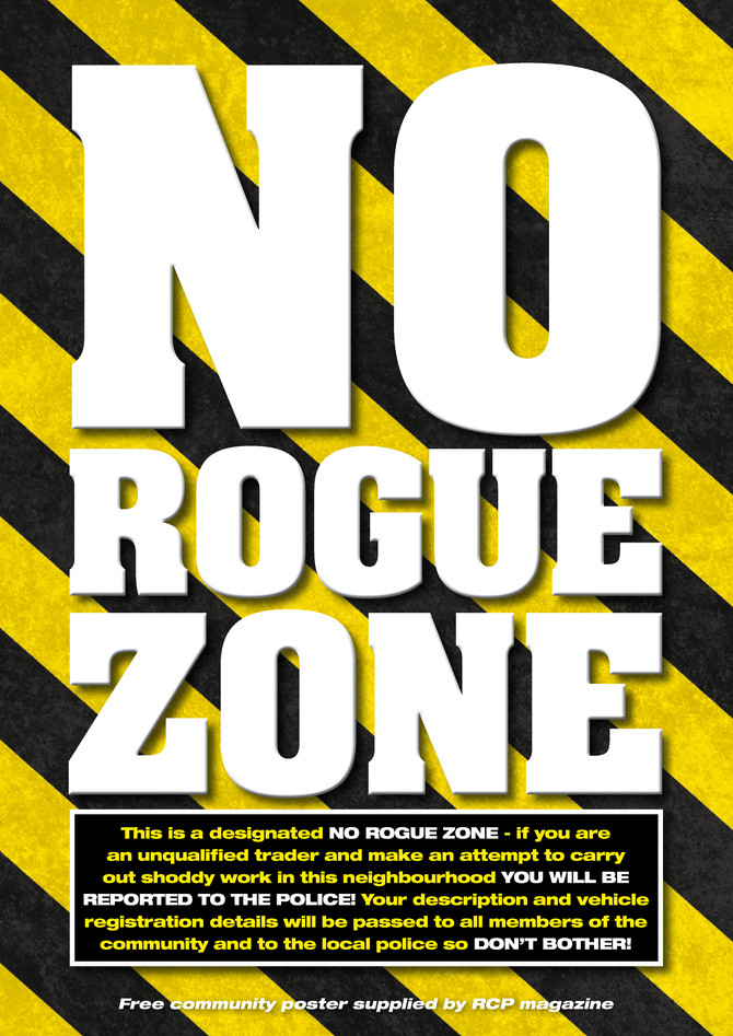 RCP Magazine - Free 'No Rogue Traders' Poster