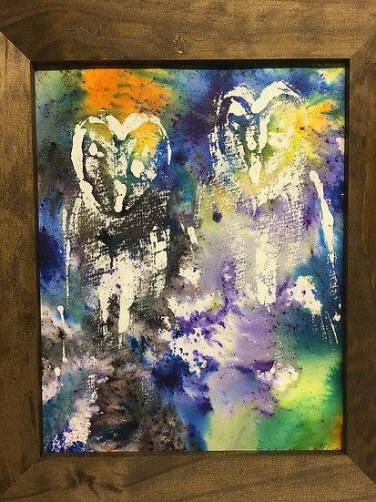 Cosmic Owls 20x30cm