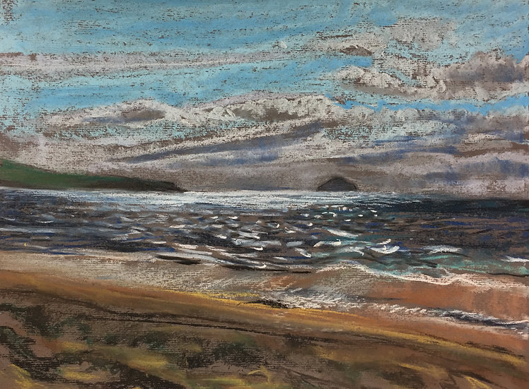 Alisa Craig from Prestwick Beach 25x35cm