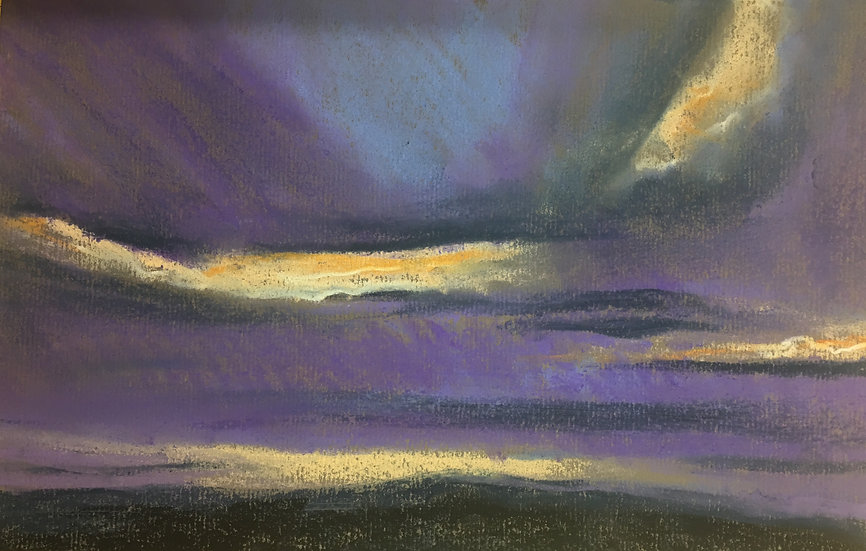 Purple Skies 18x30cm