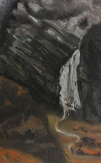 Steall Waterfall in the Winter 30x40cm