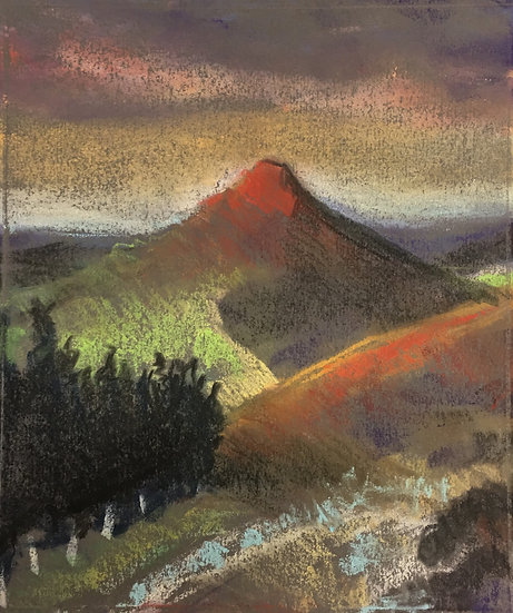 Dawn at Roseberry Topping 20x30cm