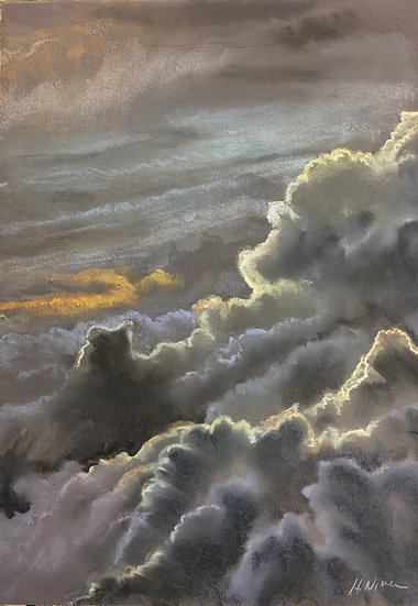 Big Skies 8: View from the Mountain Top 30x55cm