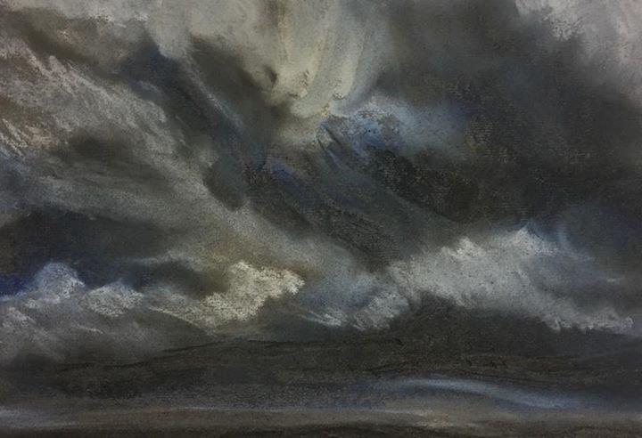 Big Skies 4: North Yorks Moors 30x25cm