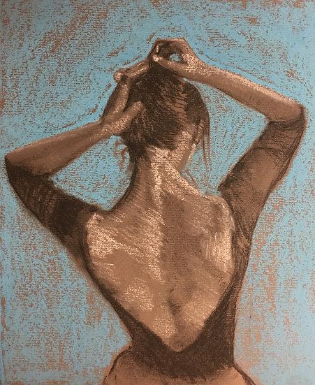 Dancer Fixing her Hair 25x35cm