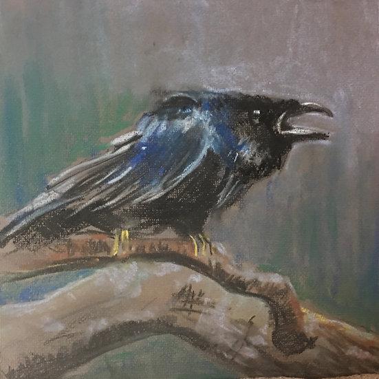 Crow Calling 26x30cm