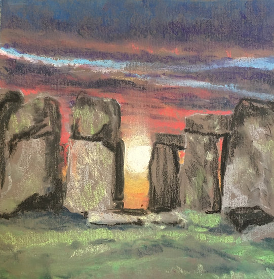 View from the Centre of the Henge 30x30cm