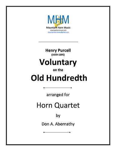 Purcell - Voluntary on the Old 100th Horn Quartet