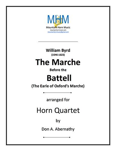 Byrd - Marche Before the Battel Horn Quartet