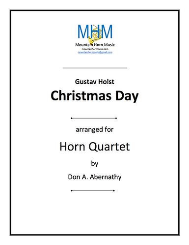 HOLST - CHRISTMAS DAY Horn Quartet