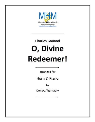 Gounod - O, Divine Redeemer Horn & Piano solo