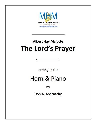 Malotte - The Lord's Prayer Horn & piano solo