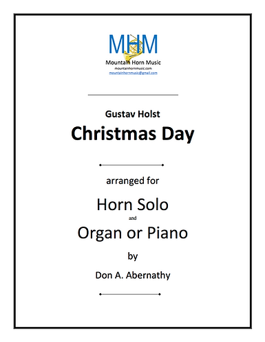 Holst - Christmas Day for Horn & organ (or piano) solo