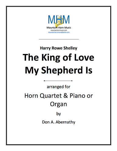 Shelley - The King of Love Horn Quartet and Organ or piano