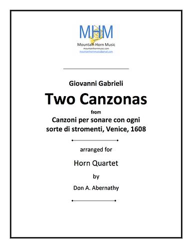 Gabrieli - Two Canzonas for Horn Quartet