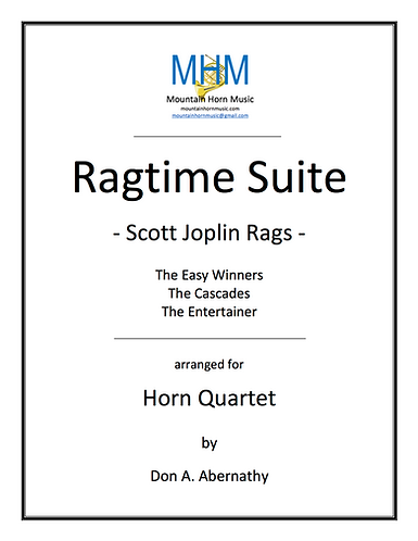 Joplin - Ragtime Suite Horn Quartet (complete suite)