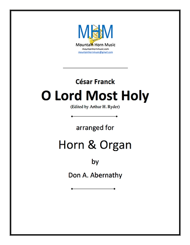Franck - O Lord Most Holy Horn & Organ solo