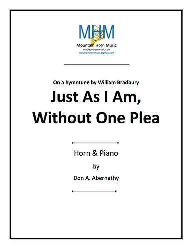 Abernathy - Just As I Am Horn & piano solo