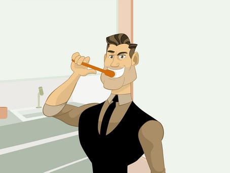 Esta é a melhor hora para escovar os dentes.