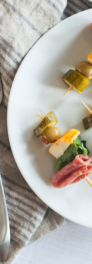 Antipasta Skewers are the perfect pass-around hors d'oeuvre for your next event.