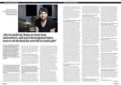 Jan Jaing - Drumnow im OffBeat Magazin 0