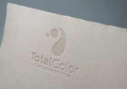 Total Color logo deboss