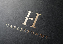 Harleston Row hot stamping foil on leather