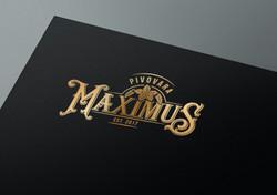 Gold UV varnished logo on cardboard