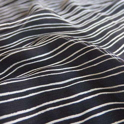 Striped Crinkle Georgette, 5 MM, P1205-MH01011K