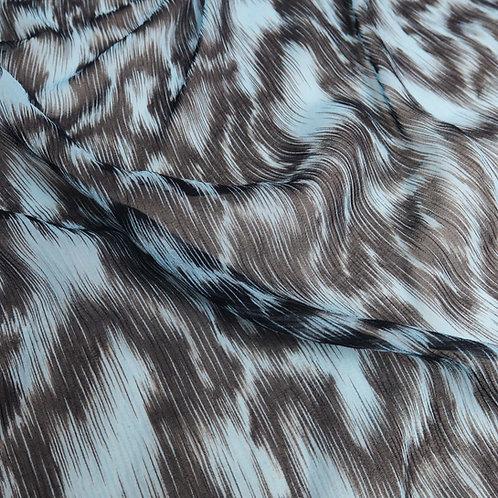 Leopard Print Silk / Cotton Georgette, 9MM, DP1507-MHG15097