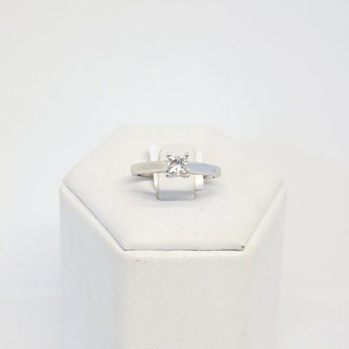 9ct White Gold Princess Cut Diamond Ring