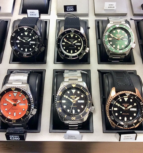 New collection of Seiko 5's in store