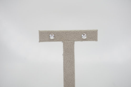 9ct White Gold Certified 0.1ct Diamond Studs