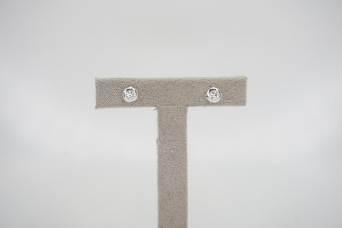 9ct White Gold Certified 0.2ct Diamond Studs