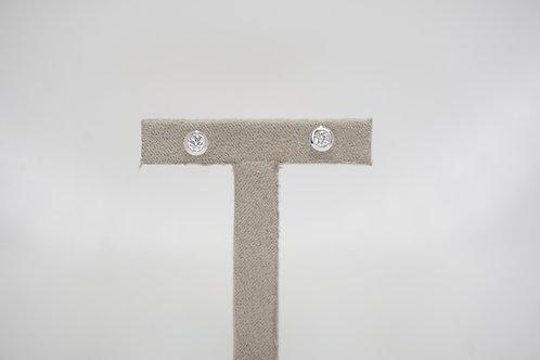 9ct White Gold Certified 0.25ct Diamond Studs