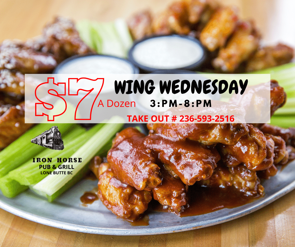 $7 A Dozen Wing Wednesdays Iron Horse Pu