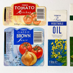 Oil and sauce labels