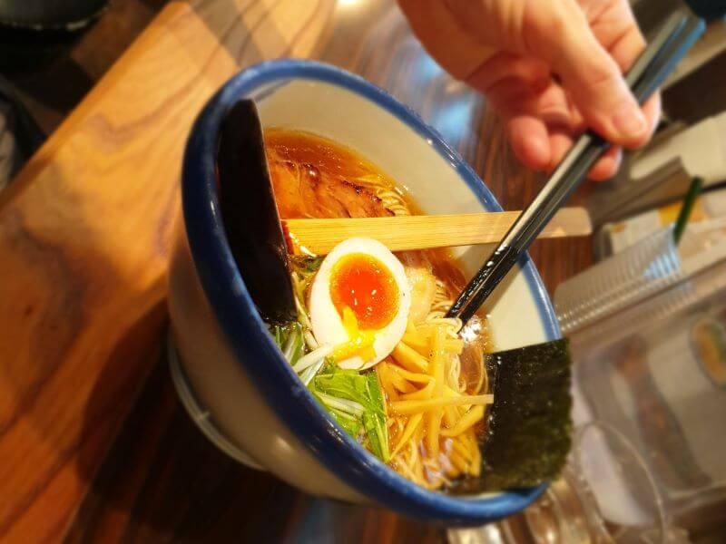 Delicious bowl of ramen at Afuri in Roppongi, Tokyo