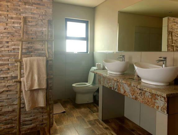 En-suite bathroom at Sossusvlei Lodge in Namibia