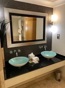 En-suite bathroom review at Alexander house hotel in West Sussex, England
