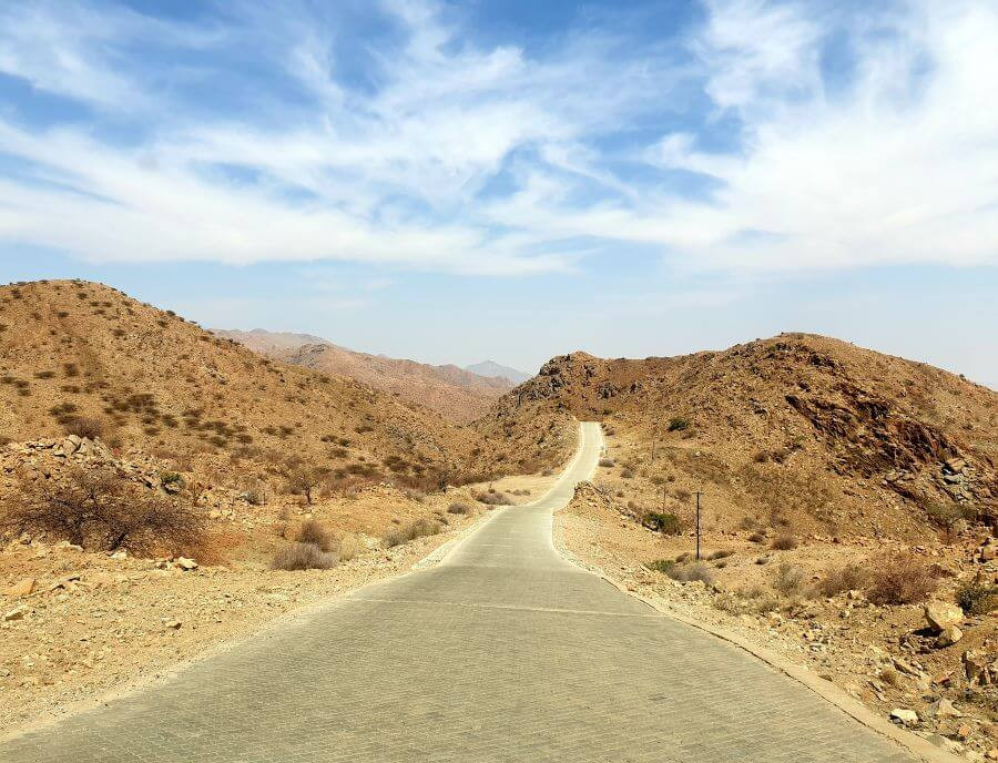 Driving through Spreetshoogte pass in Namibia