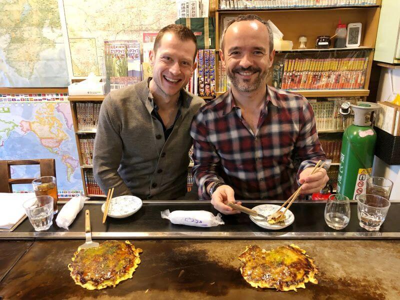 The delightful authentic Okonomiyaki Katsu restaurant in Kyoto