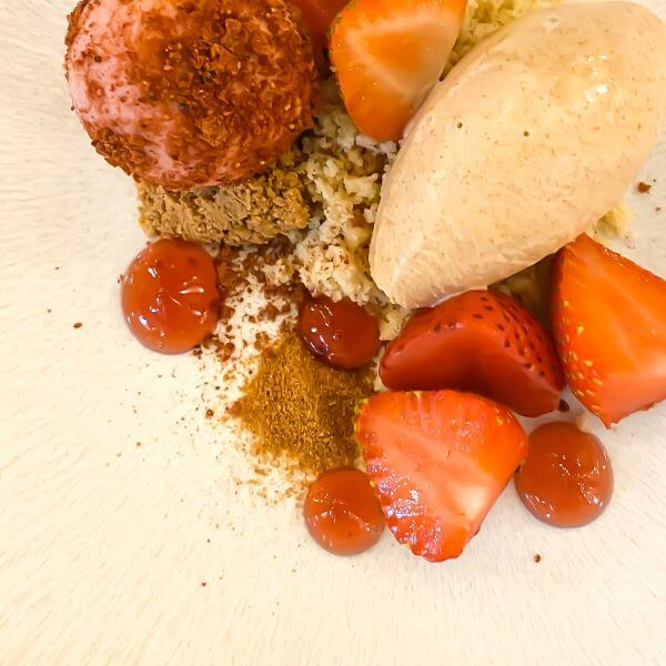 Strawberries for dessert, a meal review at Tristan Restaurant Horsham