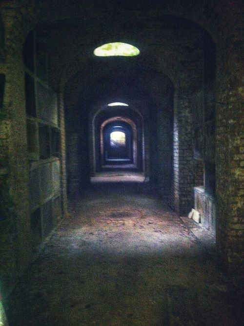 Terrace Catacombs during a guided tour of Highgate Cemetery West